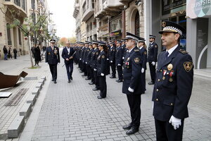 L'alcalde de Lleida, Miquel Pueyo, i l'intendent de la Guàrdia Urbana, Josep Ramon Ibarz