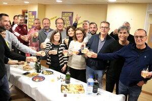 Pla obert de la celebració a la seu d'ERC de Lleida