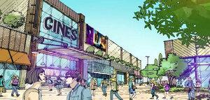 Recreació virtual del futur parc comercial i d'oci Go Lleida
