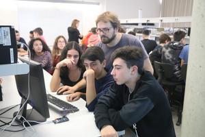 Un dels tallers de programació l'any passat a l'EPS