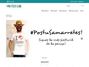 Captura de pantalla de la nova web de Postureig de Lleida, publicada a mitjans de desembre de 2019