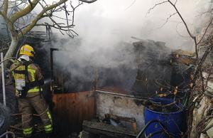 Un incendi calcina una casa deshabitada de la Segarra, el dia 19 de desembre de 2019.
