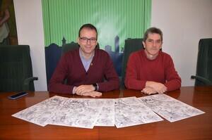 Pla mitjà de l'alcalde de Mollerussa, Marc Solsona, i el regidor de Cultura, Joan Ramon Domingo