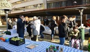 Imatge de l'esmorzar a favor de La Marató a Lleida
