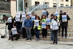 Pla general d'un dels activistes de la PAH acusats