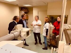 Visita del president de la Diputació, Joan Talarn, a l'Espitau Val d'Aran de Vielha