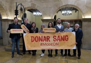 Presentació de la campanya de donació de sang a Lleida el gener del 2020