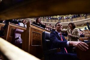 Pedro Sánchez al Congrés dels Diputats el gener del 2020