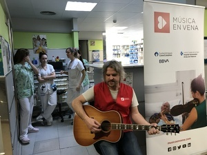 El Fill del Mestre actuant en directe a l'Arnau de Vilanova de Lleida