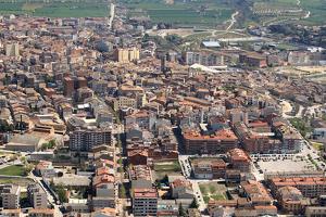 Imatge d'arxiu d'una vista aèria del municipi de Tàrrega.