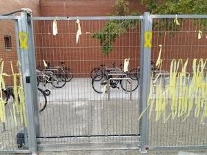 Imatge de l'àrea habilitada per a bicis a l'ETSEA