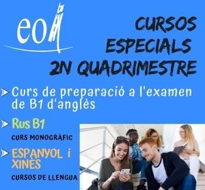 Cartell dels cursos de l'EOI