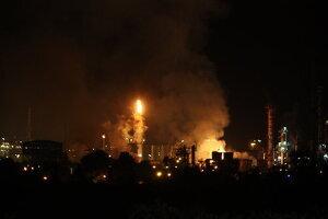 Pla general de l'incendi a la indústria química on hi ha hagut una explosió a la Canonja, el dia 14 de gener del 2020.