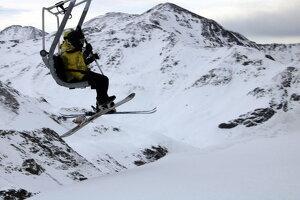 Un esquiador a Boí Taüll al gener del 2020