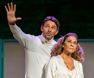 Representació de 'La fuerza del cariño' al Teatre de la Llotja de Lleida.