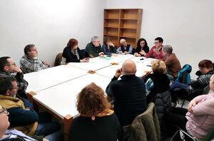 Imatge de la reunió del primer tinent d'alcalde de la Paeria, Toni Postius