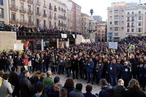 Pla general de la plaça Sant Joan de Lleida plena de gom a gom