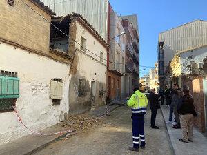 El primer tinent d'alcalde i regidor d'Urbanisme de la Paeria, Toni Postius, davant de l'edifici