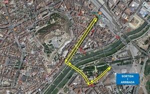 Mapa de la rua de Carnaval a Lleida