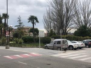 Imatge de l'espai on es preveu instal·lar la nova estació de càrrega de vehicles elèctrics de les Borges Blanques