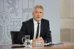 Pla mitjà del ministre de l'Interior en funcions, Fernando Grande-Marlaska
