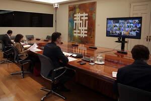 Pla obert de la reunió del president del govern espanyol, Pedro Sánchez