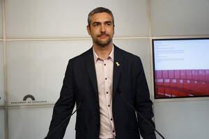 El portaveu adjunt d'ERC al Parlament, Bernat Solé, en roda de premsa