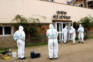 Efectius del Grup Sanitari de l'Exèrcit procedents de Saragossa