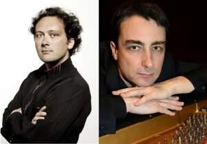 Els musics Romain Garioud i Daniel Blanch