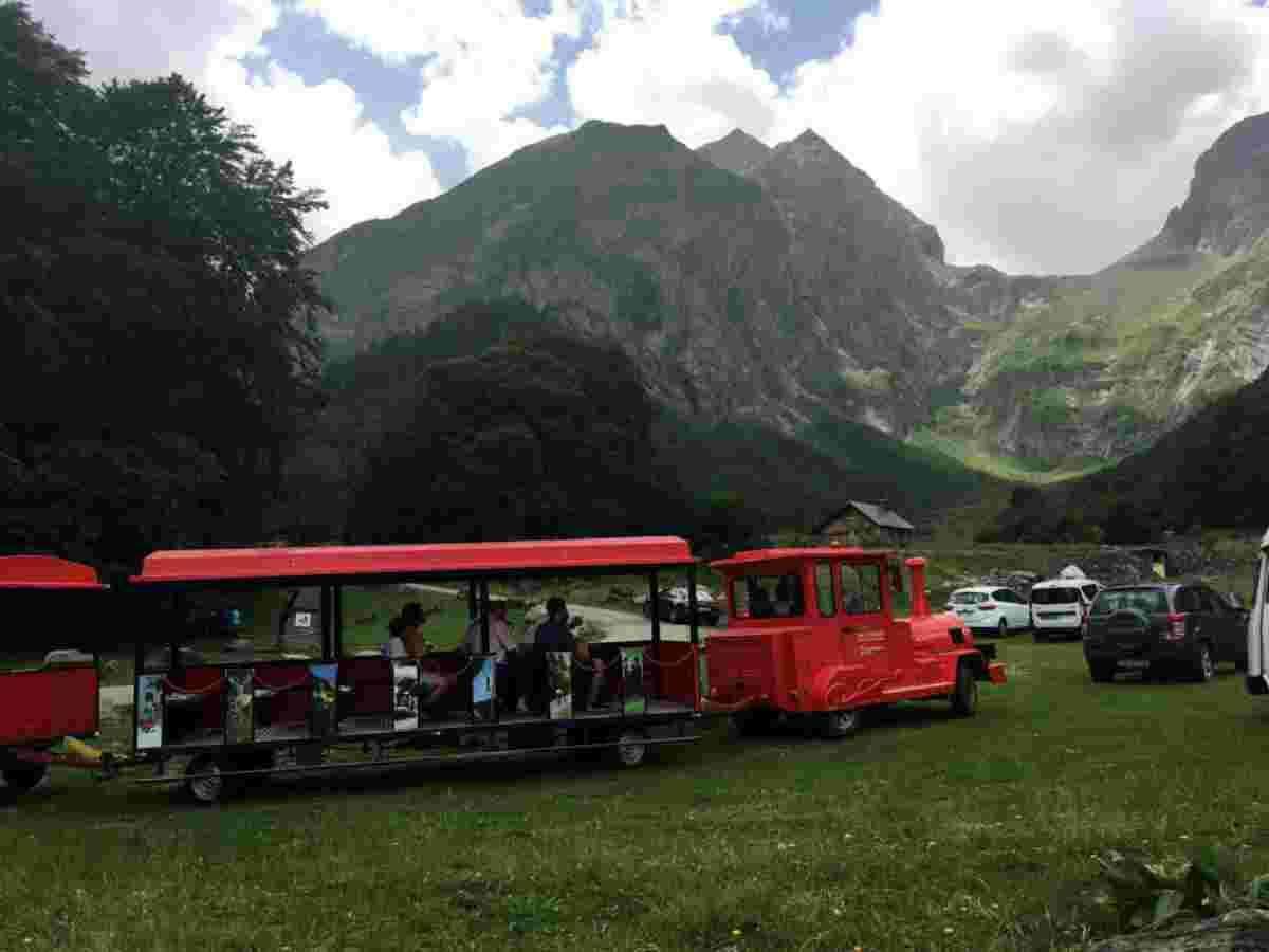 Imatge del tren turístic de la Val d'Aran