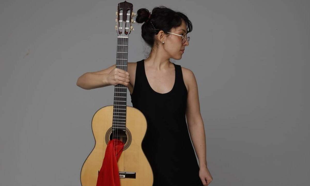 Imatge de la guitarrista Maria Ribera