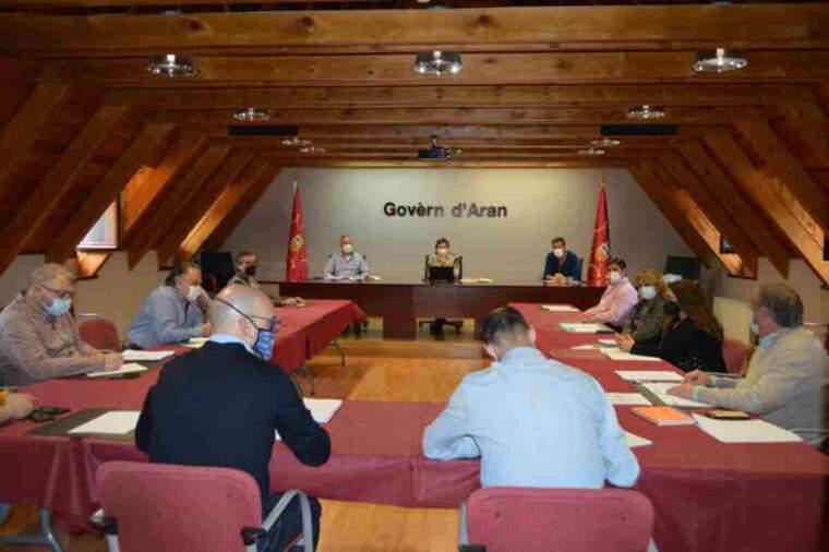Pla general de la reunió en la que s'ha aprovat el conveni col·lectiu dels Pompièrs d'Aran