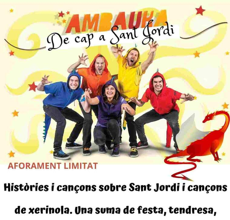 Cartell de l'espectacle programat a les Borges per Sant Jordi