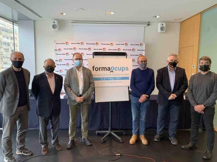 Imatge de la presentació de la fira Formaocupa de Lleida