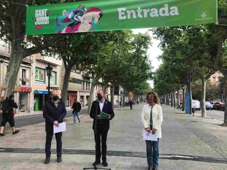Imatge de la presentació dels actes de Sant Jordi a Lleida
