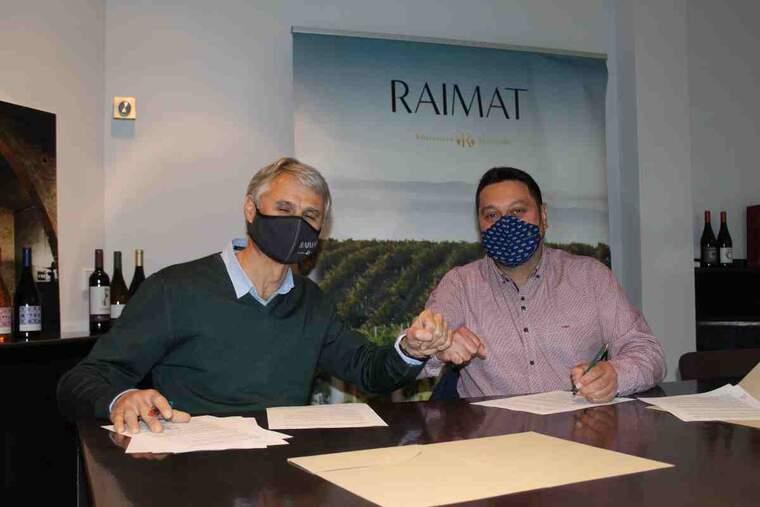 Imatge de la signatura entre Raimat i la Fecoll