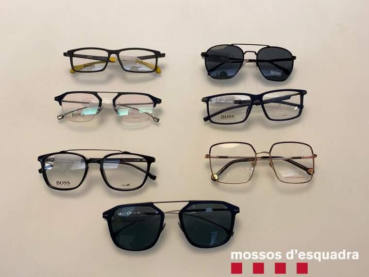 Imatge de les ulleres robades a Lleida