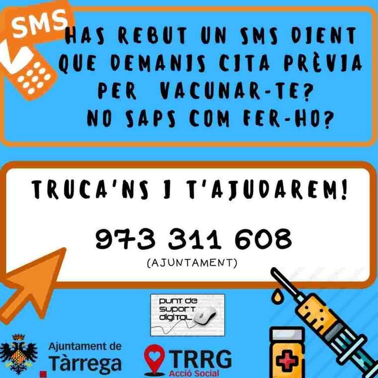 Imatge de l'infografia feta per l'Ajuntament de Tàrrega sobre la vacunació