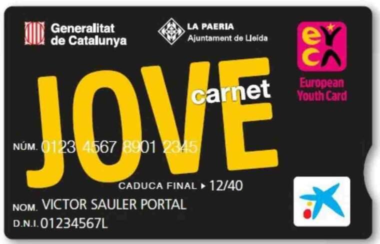 Imatge de mostra d'un Carnet Jove de Lleida