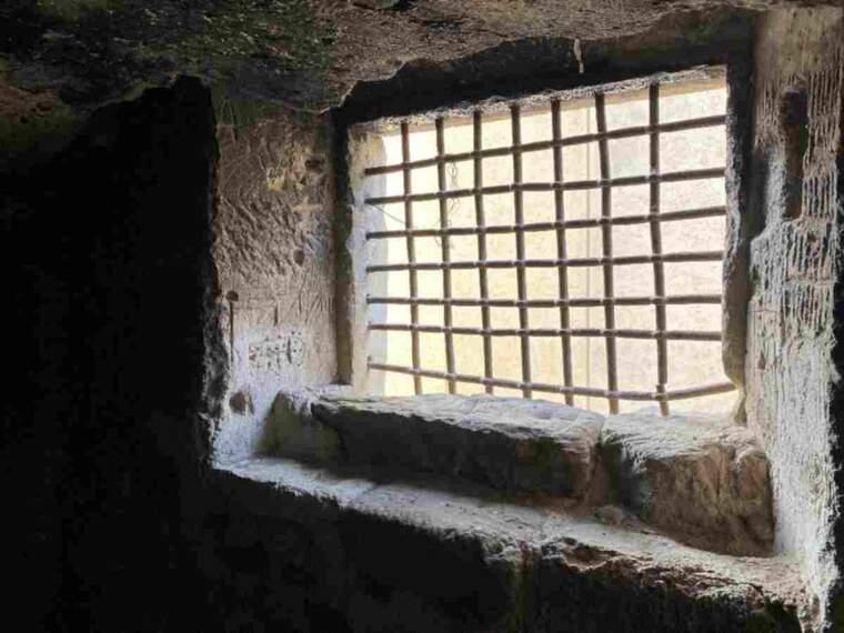 Imatge del calabós de Castelló de Farfanya
