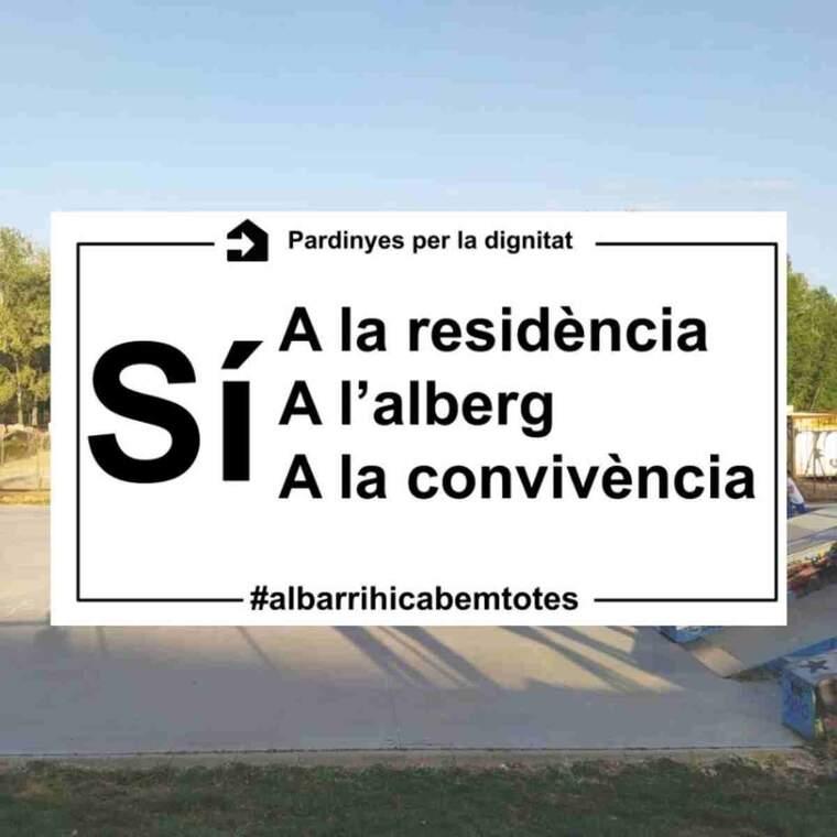 Imatge del cartell creat pels veïns de Pardinyes