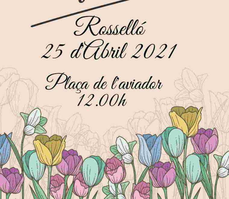 Imatge del cartell de la rambla de les floristes de Rosselló