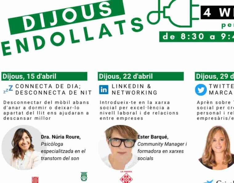 Imatge del cartell dels 'Dijous Endollats' de la Fecom