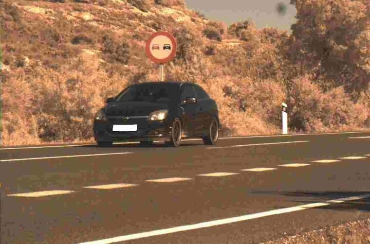 Imatge del conductor enxampat per un radar a l'N-240