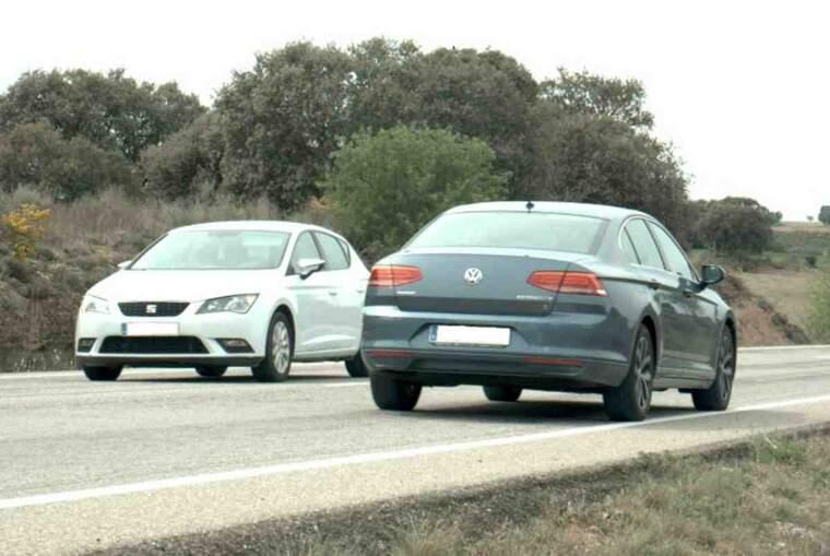 Imatge del cotxe enxampat a una velocitat punible a la Segarra