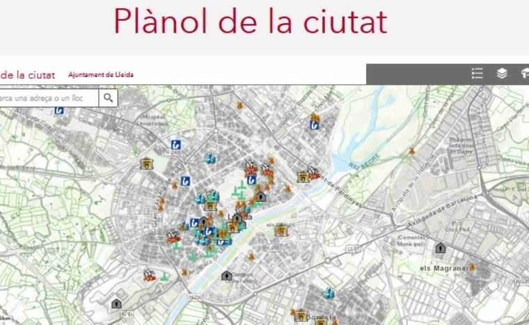 Imatge d'un plànol de Lleida