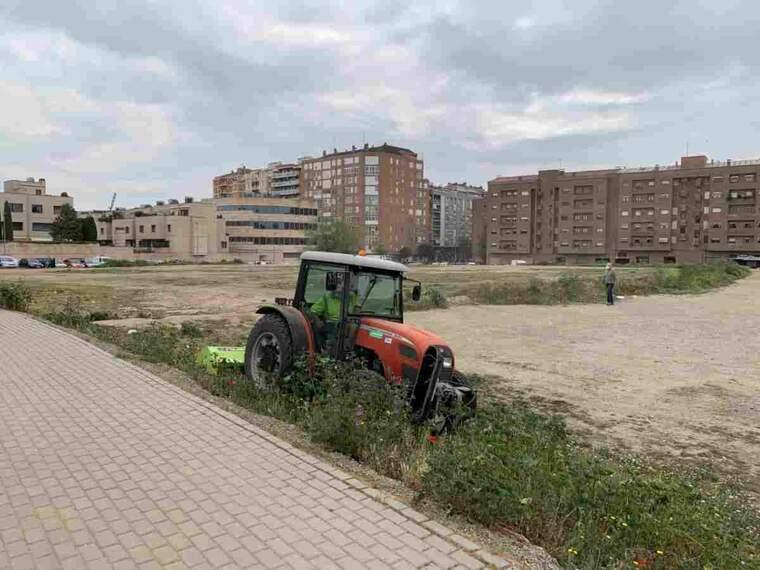Imatge d'una zona verda de Lleida