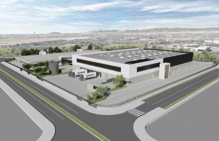 Imatge virtual de la futura estació logística d'Amazon al polígon industrial de Constantí