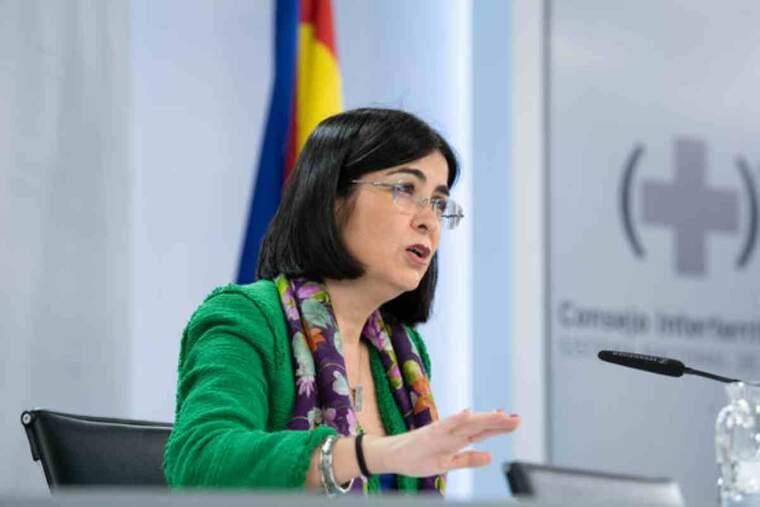 La ministra de Sanitat, Carolina Darias, durant la roda de premsa posterior al Consell Interterritorial de Salut