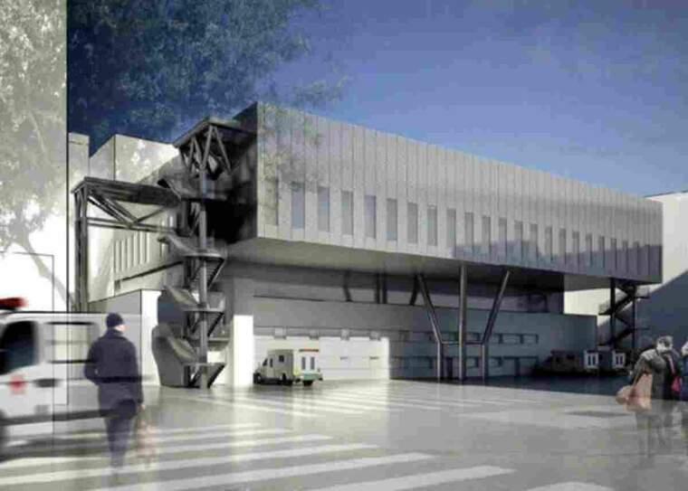 Recreació virtual de l'exterior del nou bloc quirúrgic de l'Hospital Universitari Arnau de Vilanova de Lleida